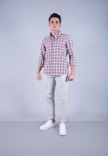 Camisa de hombre Einstein Patadegayo de calidad sostenible fabricada en España - plano completo