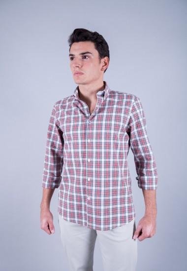 Camisa de hombre Einstein Patadegayo de calidad sostenible fabricada en España - plano delantero