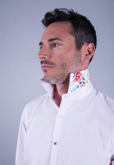 Camisa de hombre Gala Patadegayo de calidad sostenible fabricada en España - detalle cuello