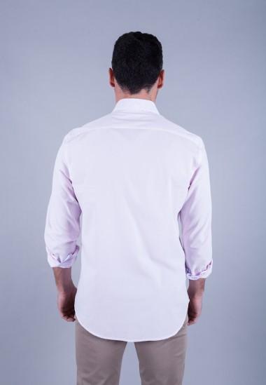 Camisa de hombre Gala Patadegayo de calidad sostenible fabricada en España - plano espalda