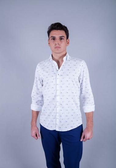 Camisa de hombre Lennon Patadegayo de calidad sostenible fabricada en España - plano delantero