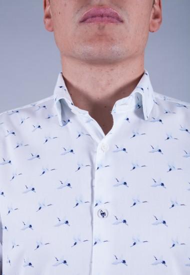Camisa de hombre Lennon Patadegayo de calidad sostenible fabricada en España - detalle botón