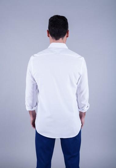 Camisa de hombre Leonardo Patadegayo de calidad sostenible fabricada en España - plano trasero