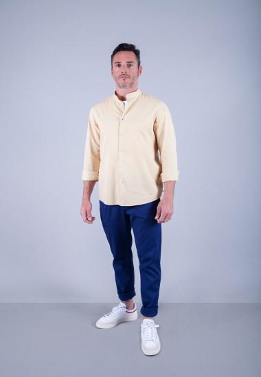 Camisa de hombre Mao puffy Patadegayo de calidad sostenible fabricada en España - plano completo