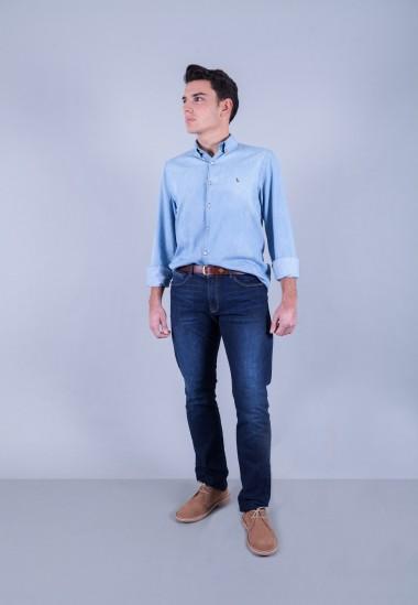Camisa de hombre Poe Patadegayo de calidad sostenible fabricada en España - plano completo