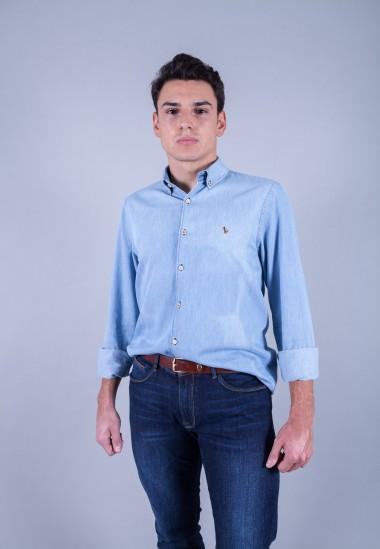 Camisa de hombre Poe Patadegayo de calidad sostenible fabricada en España - plano delantero