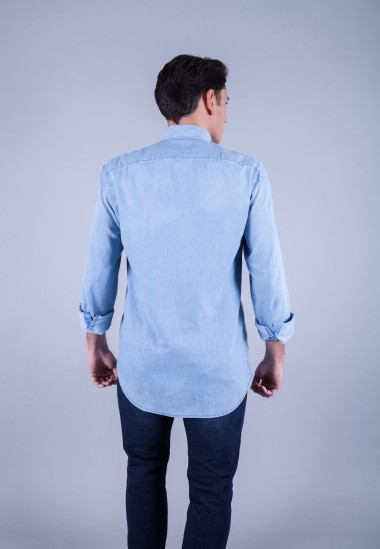 Camisa de hombre Poe Patadegayo de calidad sostenible fabricada en España - plano traserto