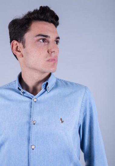 Camisa de hombre Poe Patadegayo de calidad sostenible fabricada en España - detalle delantero