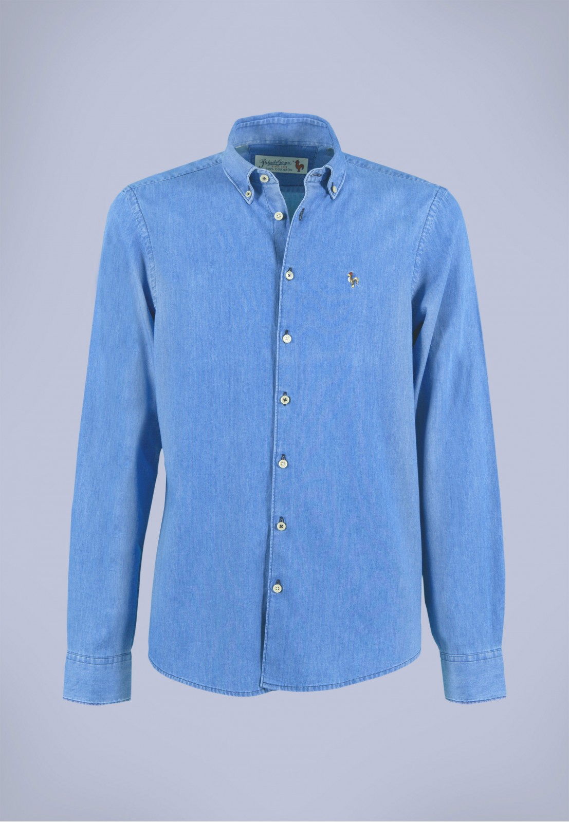 Camisa de hombre Poe Patadegayo de calidad sostenible fabricada en España - plano fantasma