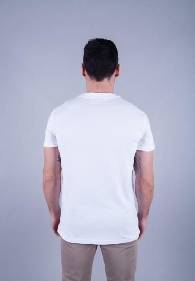 Camiseta de hombre Isa blanca Patadegayo de calidad sostenible fabricado en España - plano trasero