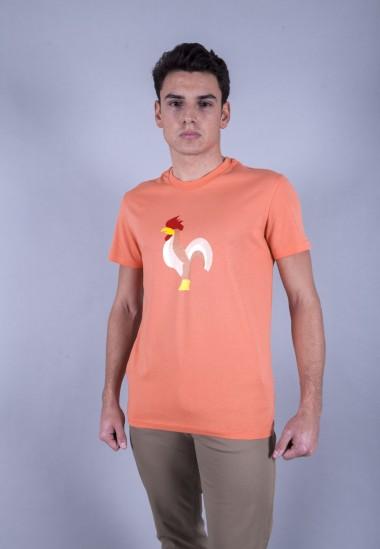 Camiseta de hombre Isa narnaja Patadegayo de calidad sostenible fabricado en España - plano delantero