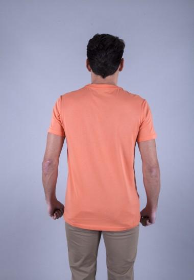 Camiseta de hombre Isa narnaja Patadegayo de calidad sostenible fabricado en España - plano trasero