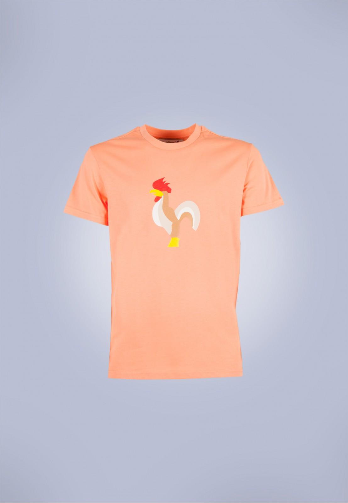 Camiseta de hombre Isa narnaja Patadegayo de calidad sostenible fabricado en España - plano fantasma