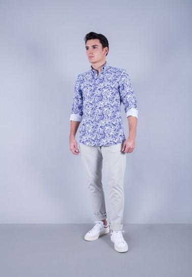 Camisa de hombre Patadegayo de calidad sostenible fabricada en España - cuerpo entero