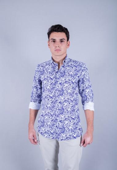 Camisa de hombre Patadegayo de calidad sostenible fabricada en España - plano americano