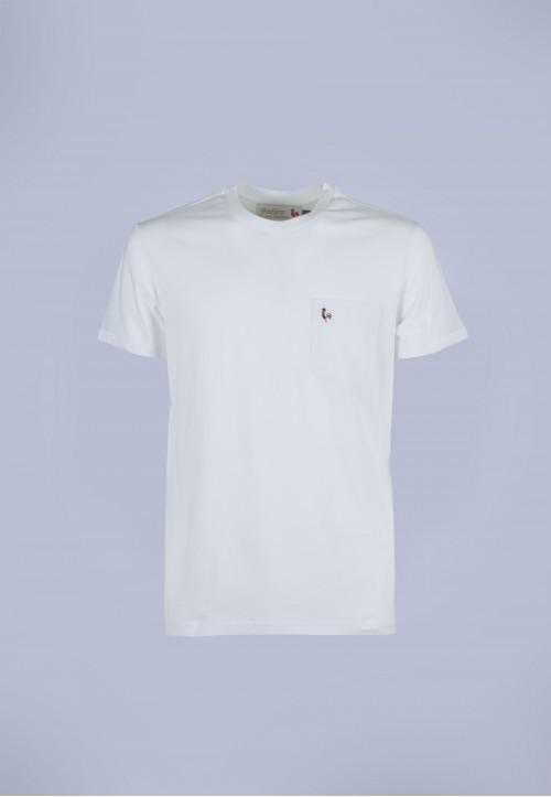 Camiseta de hombre Carmen blanca Patadegayo de calidad sostenible fabricado en España - plano fantasma
