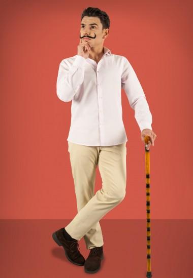 Camisa de hombre Gala Patadegayo de calidad sostenible fabricada en España - plano fantasma