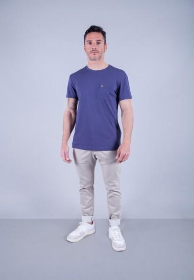 Camiseta de hombre Carmen azul Patadegayo de calidad sostenible fabricado en España - plano fantasma