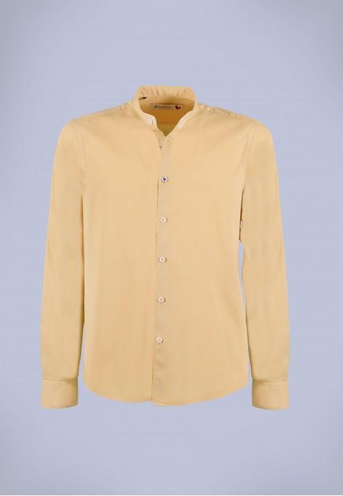 Camisa de hombre Mao puffy Patadegayo de calidad sostenible fabricada en España - plano fantasma