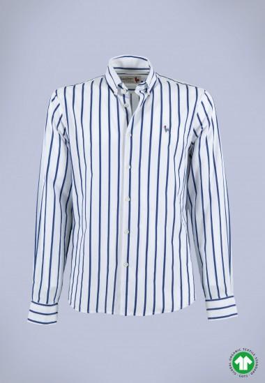Camisa de hombre Calypso Patadegayo de calidad sostenible fabricada en España - plano fantasma