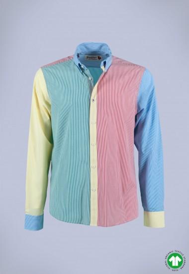 Camisa de hombre Dalí Patadegayo de calidad sostenible fabricada en España - plano fantasma