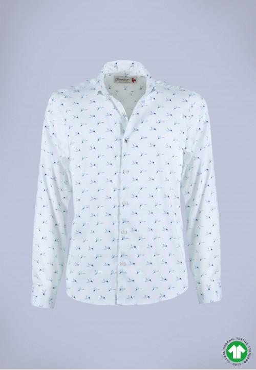 Camisa de hombre Lennon Patadegayo de calidad sostenible fabricada en España - plano fantasma