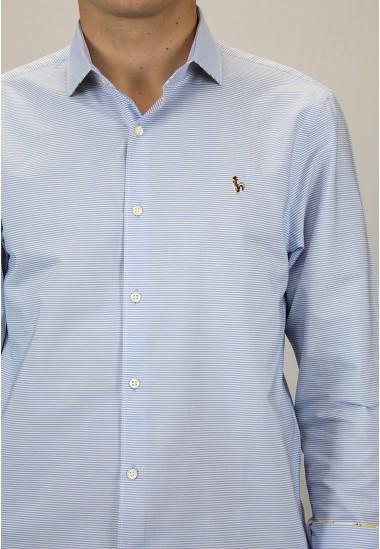 Camisa de hombre Albus Patadegayo de calidad sostenible fabricada en España - plano detalle