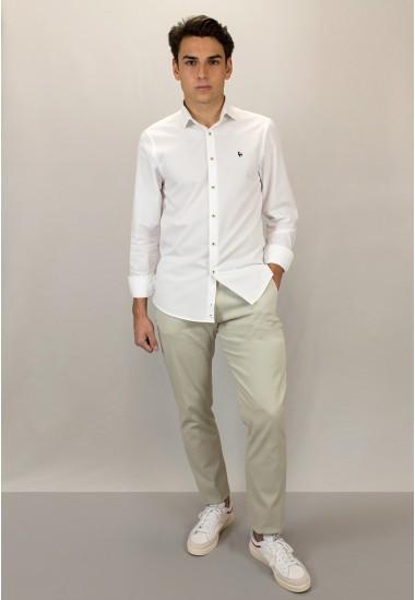Camisa de hombre biff Patadegayo de calidad sostenible fabricada en España - plano detalle