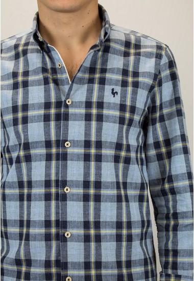 Camisa de hombre Dobby Patadegayo de calidad sostenible fabricada en España - plano detalle