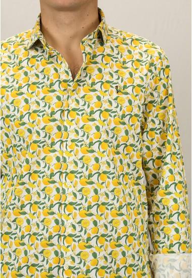 Camisa de hombre Draco Patadegayo de calidad sostenible fabricada en España - plano detalle