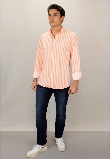 Camisa de hombre Harry Patadegayo de calidad sostenible fabricada en España - plano detalle