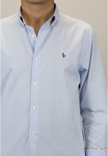 Camisa de hombre Hermione Patadegayo de calidad sostenible fabricada en España - detalle