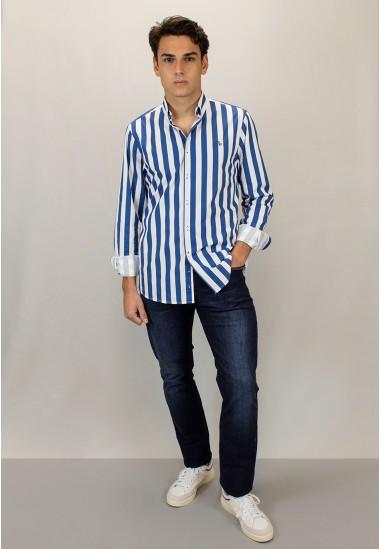 Camisa de hombre Johnny Patadegayo de calidad sostenible fabricada en España - detalle