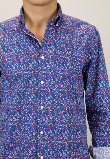 Camisa de hombre Lucius Patadegayo de calidad sostenible fabricada en España - detalle