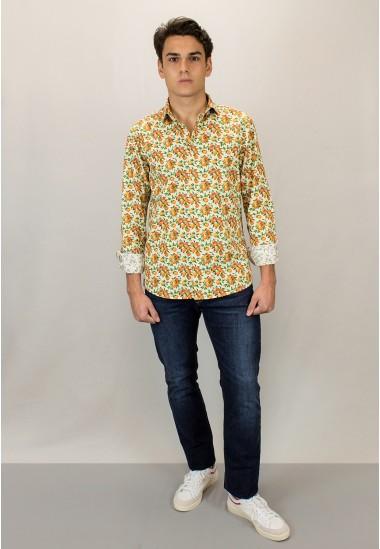 Camisa de hombre Minerva Patadegayo de calidad sostenible fabricada en España - detalle
