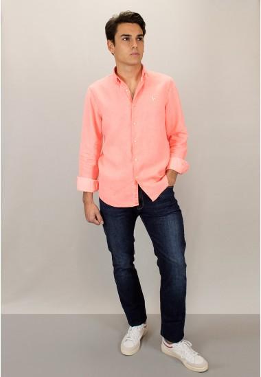 Camisa de hombre Petunia Patadegayo de calidad sostenible fabricada en España - detalle