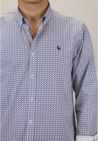 Camisa de hombre Profesor Patadegayo de calidad sostenible fabricada en España - detalle
