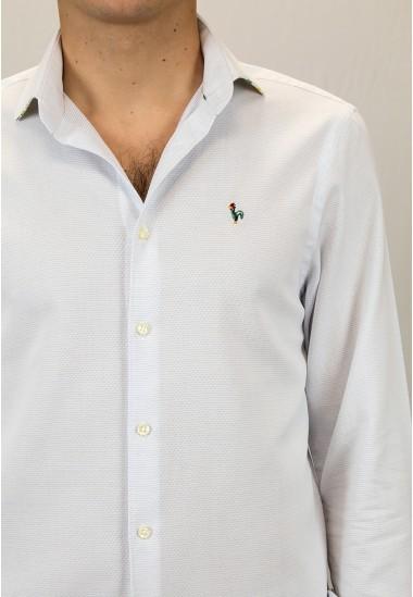 Camisa de hombre Ron Patadegayo de calidad sostenible fabricada en España - detalles
