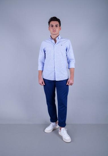 Camisa de hombre Bolt Patadegayo de calidad sostenible fabricada en España - plano de cuerpo entero