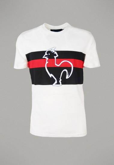 Camiseta de hombre Mellow blanca Patadegayo de calidad sostenible fabricado en España - plano fantasma