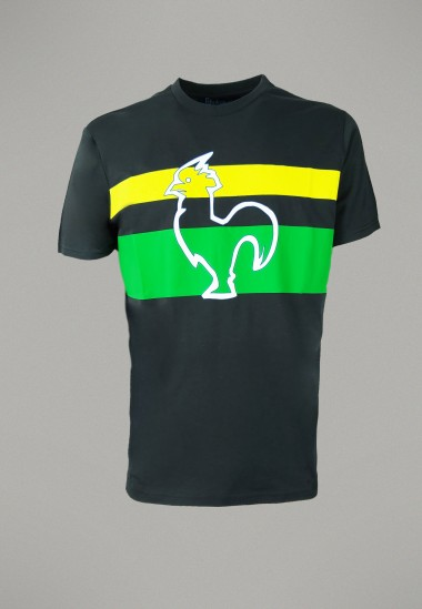 Camiseta de hombre Mellow marino Patadegayo de calidad sostenible fabricado en España - plano fantasma