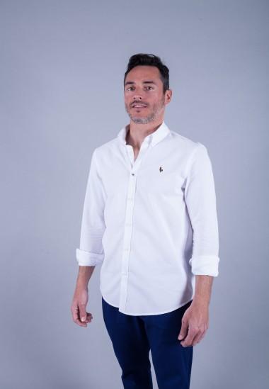 Camisa de hombre Leonardo Patadegayo de calidad sostenible fabricada en España - plano delantero