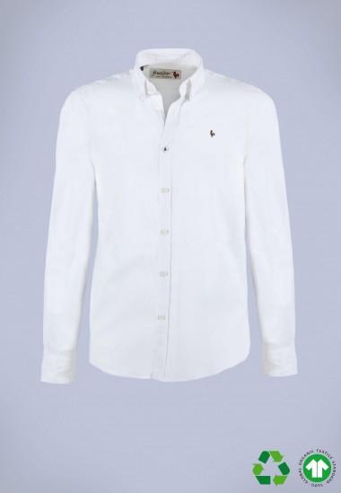 Camisa de hombre Leonardo Patadegayo de calidad sostenible fabricada en España - plano fantasma