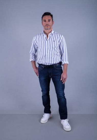Camisa de hombre Calypso Patadegayo de calidad sostenible fabricada en España - plano completo