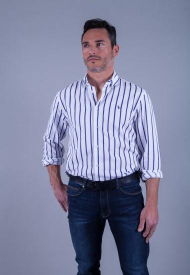 Camisa de hombre Calypso Patadegayo de calidad sostenible fabricada en España - plano delantero
