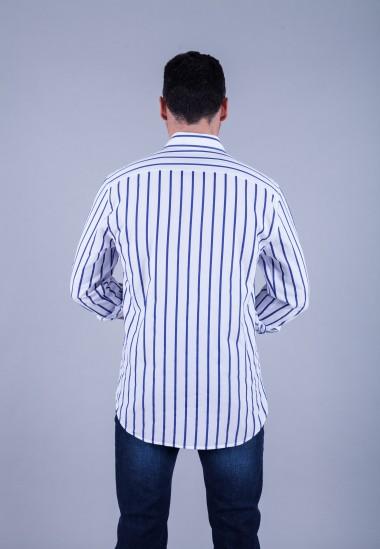 Camisa de hombre Calypso Patadegayo de calidad sostenible fabricada en España - plano trasero