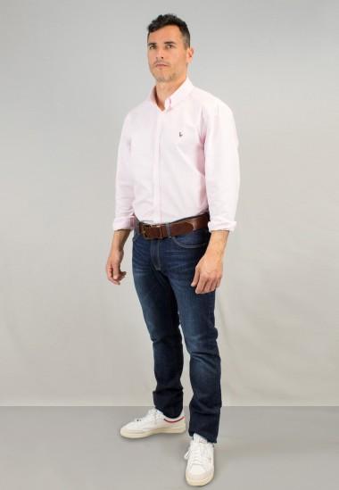 Camisa de hombre Oxford rosa Patadegayo de calidad sostenible fabricada en España - detalle