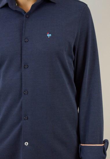 Camisa de hombre Turpin Patadegayo de calidad sostenible fabricada en España - detalle