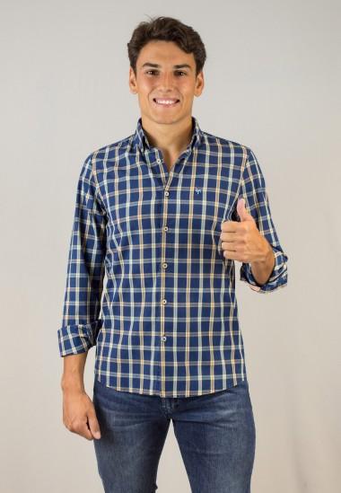 Camisa de hombre Perry Patadegayo de calidad sostenible fabricada en España - plano alegre